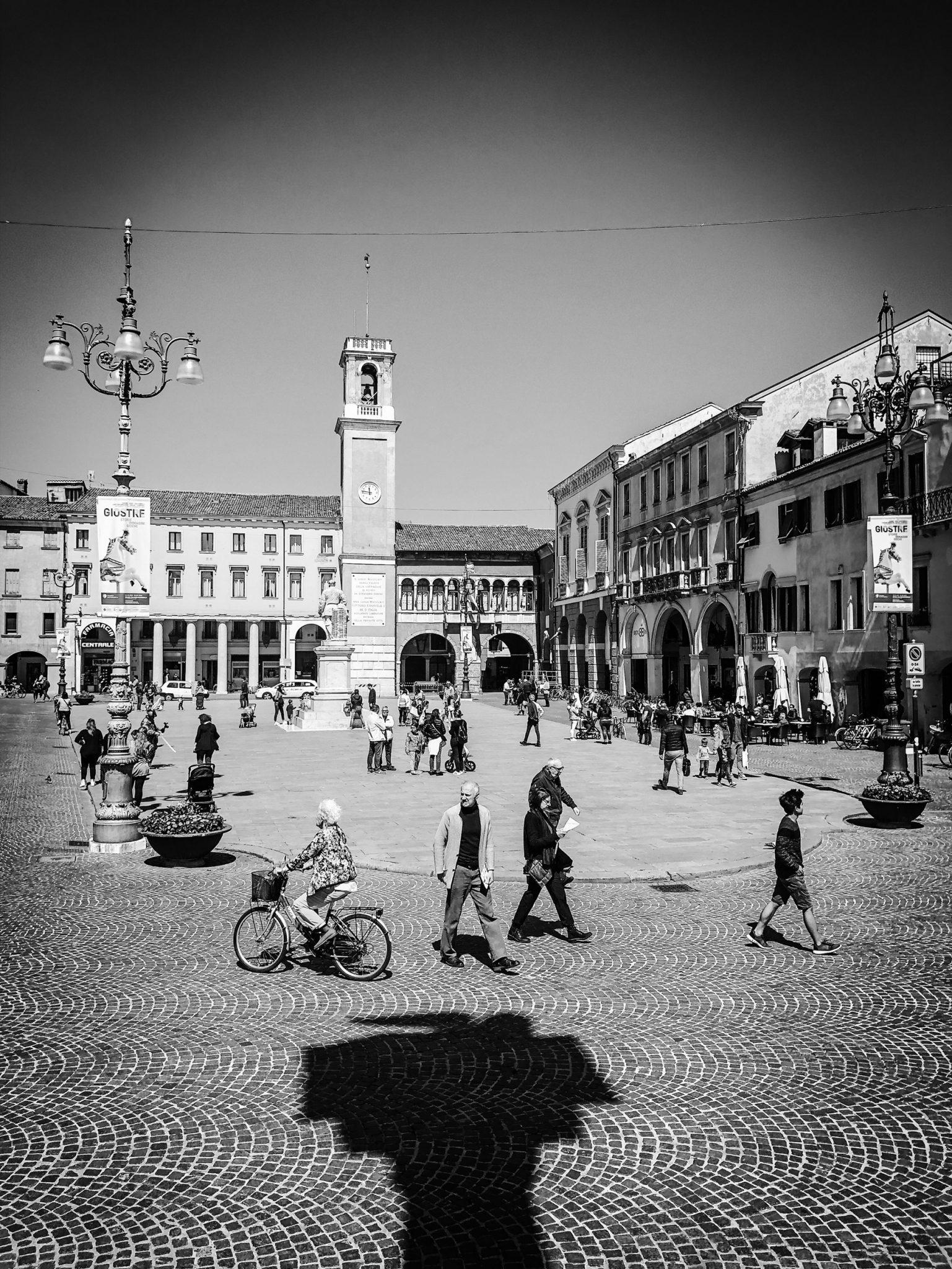 Piazza Vittorio Emanuele II. The center of the city. Rovigo, 2019