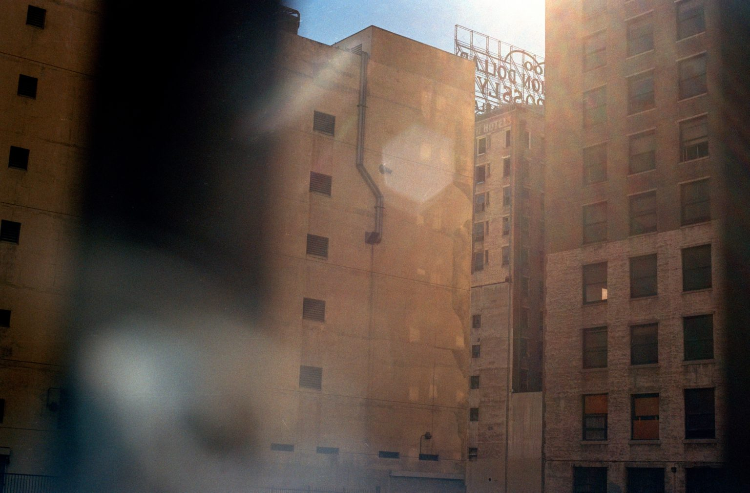 Million Dollar Hotel, famous hotel that nowdays mainly hosts homeless people. Skid Row, Los Angeles, United States 2004-2005