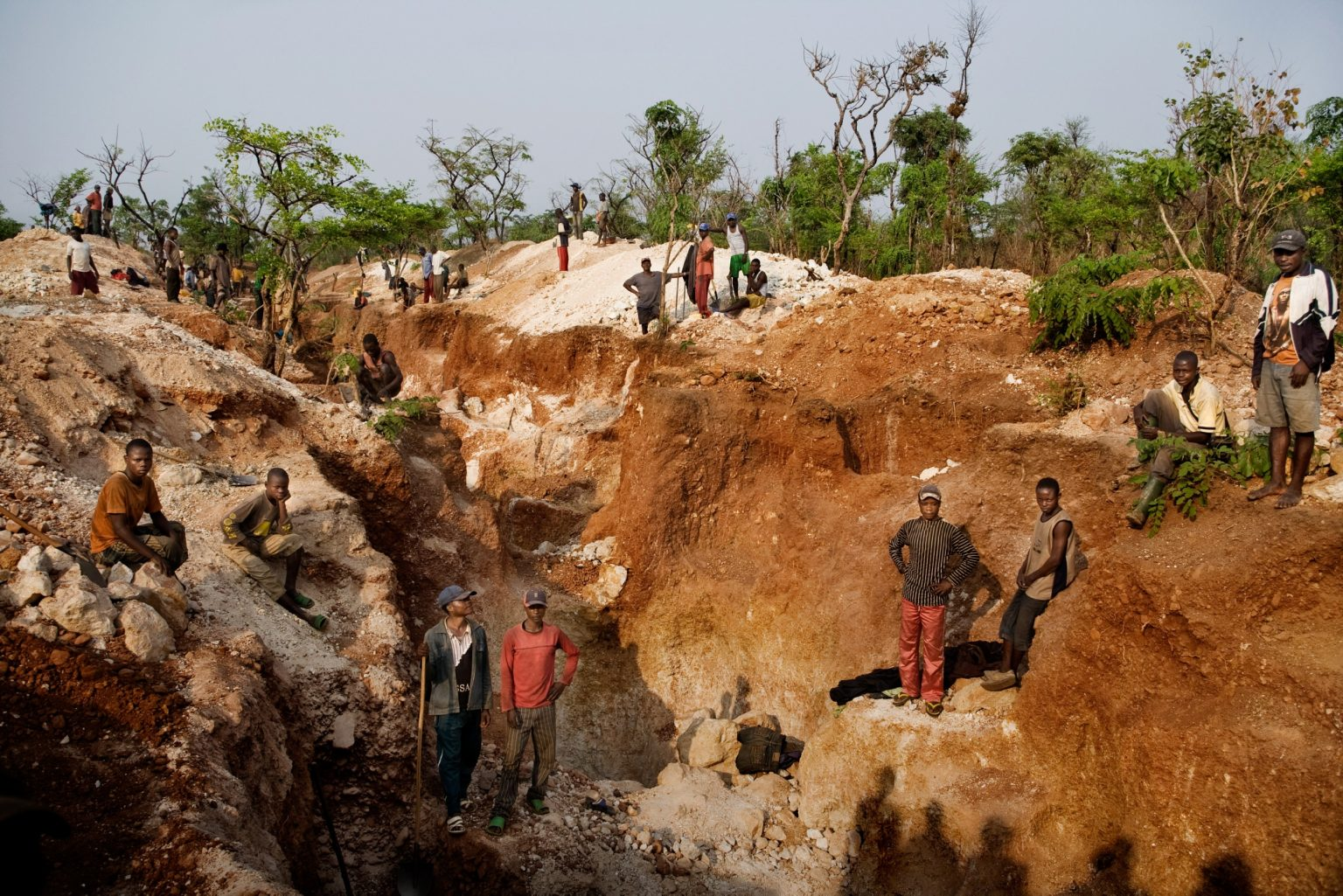 """""""Mine of death"""" this is how miners call this mine. In 2007 here there was a landslide which killed 11 people. Katanga, Carriére Kisengo, Democratic Republic of the Congo, 2008"""