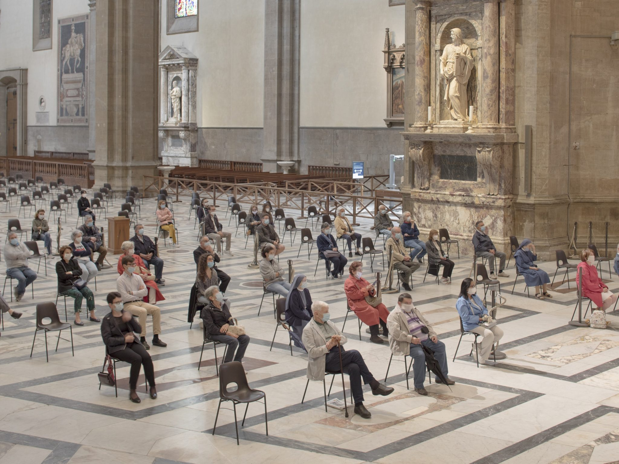 Mass in the Cathedral of Santa Maria del Fiore, Florence, Italy, 2020