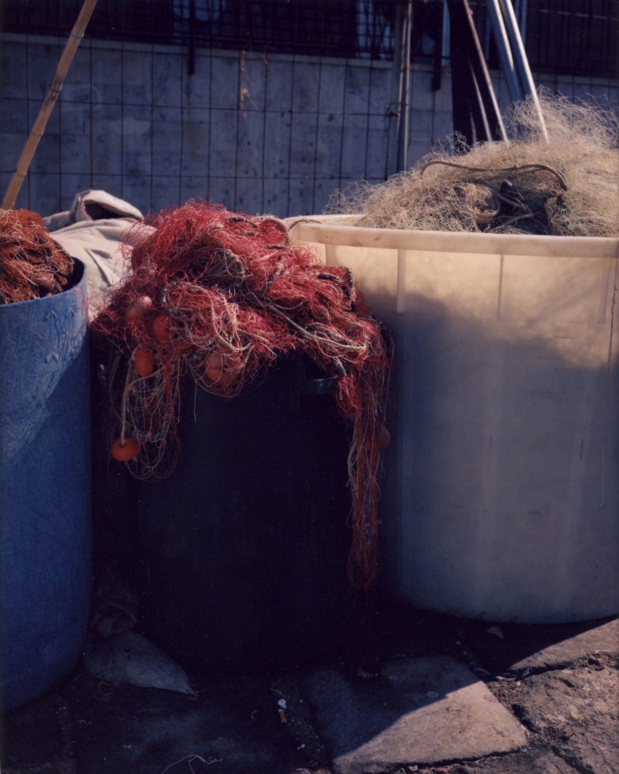 Fishing nets at the port. Province of Naples, 2020