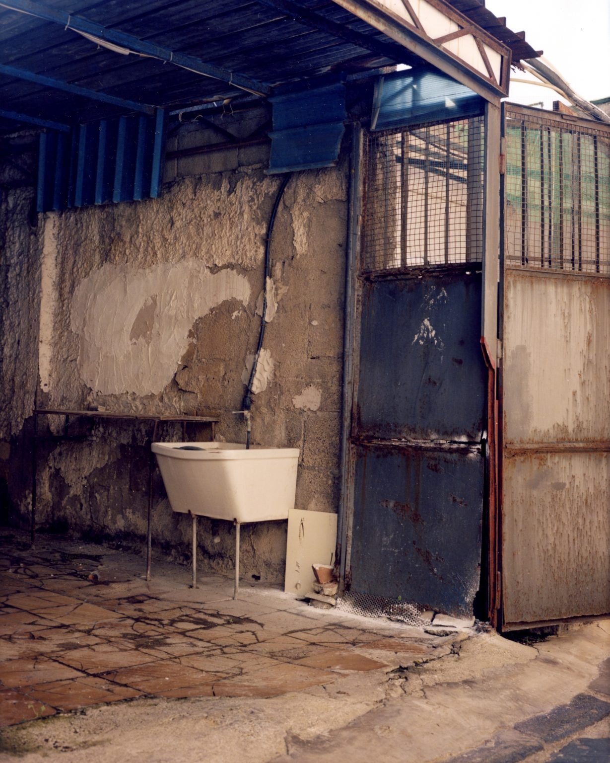 Wash sink in rural area. Province of Naples, 2020