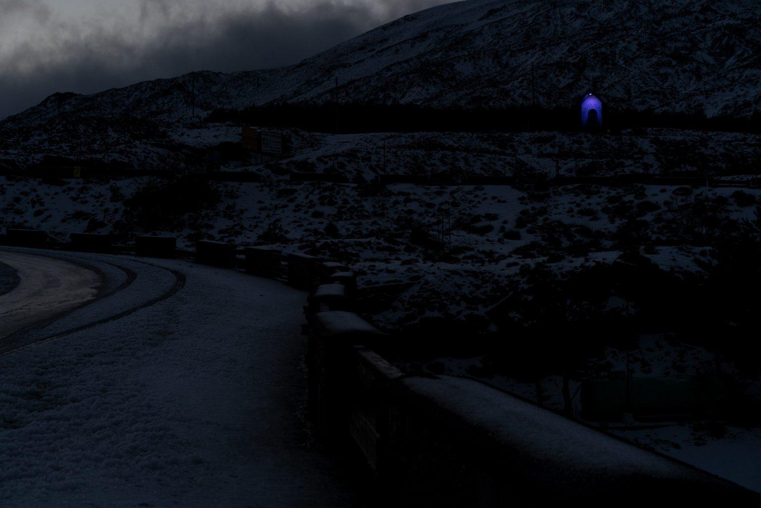 Etna cableway departure square. Base ski resort Etna Sud. Nicolosi, Catania, Italy, 2019