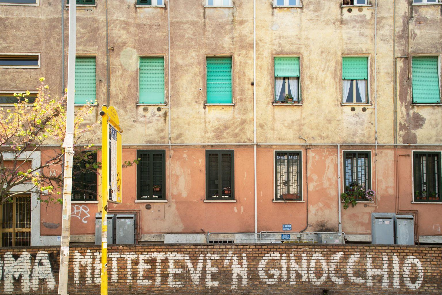 Via delle Vigne Nuove, Tufello neighborhood. Rome, Italy, 2017