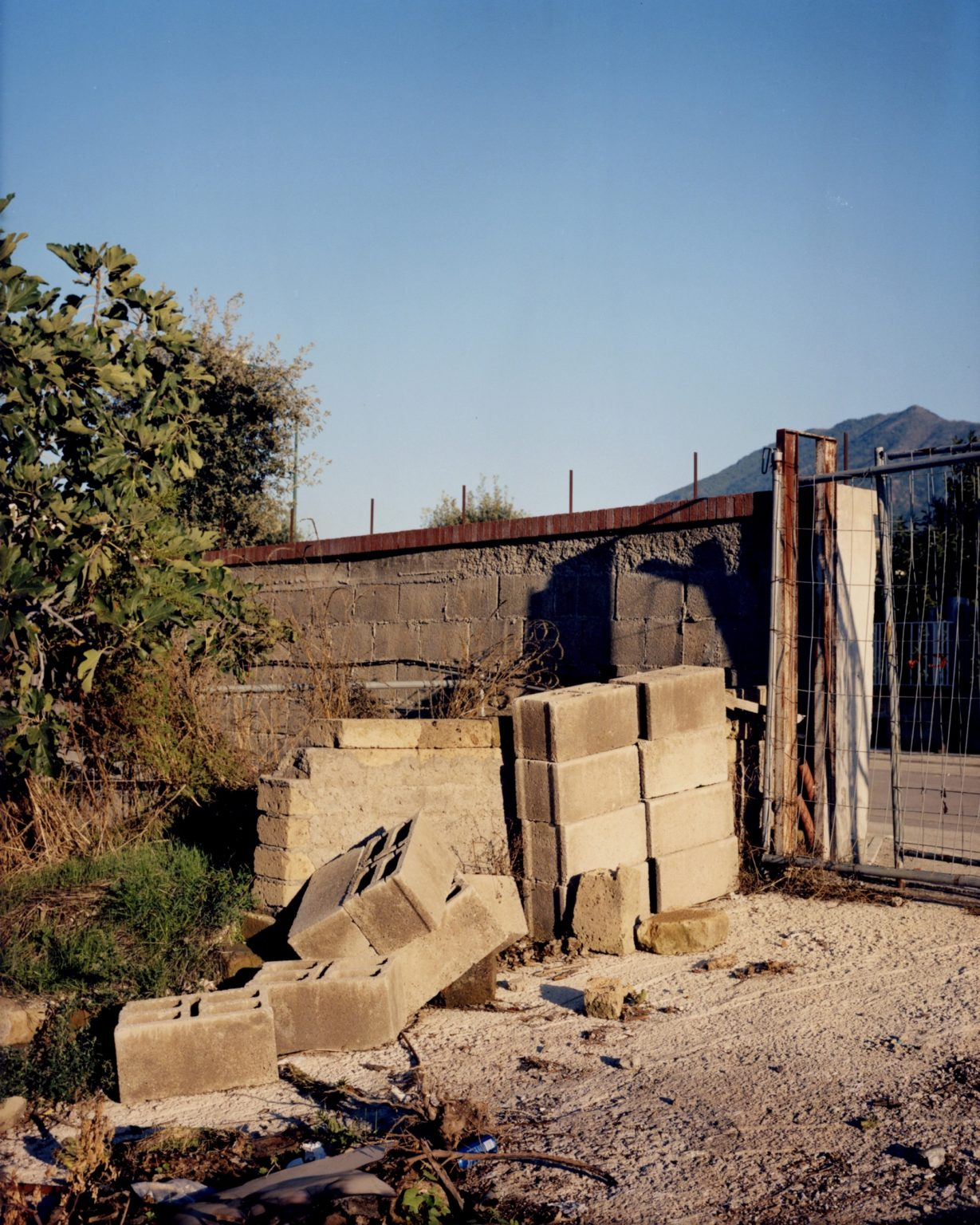 Cement bricks not used. rovince of Naples, 2020