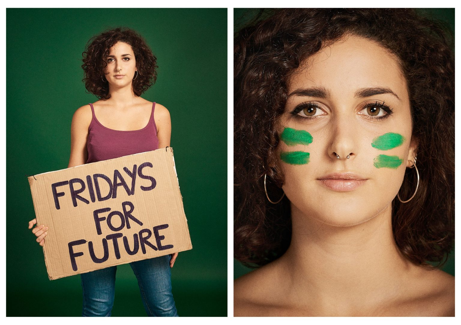 Elena Pammelati, 19 years old, is an activist for Fridays for Future Rome since February 2019, speaking as a spokeswoman during the last national assembly. She studies psychology and aspires to work in the field of social psychology.  Rome, Italy, 2019
