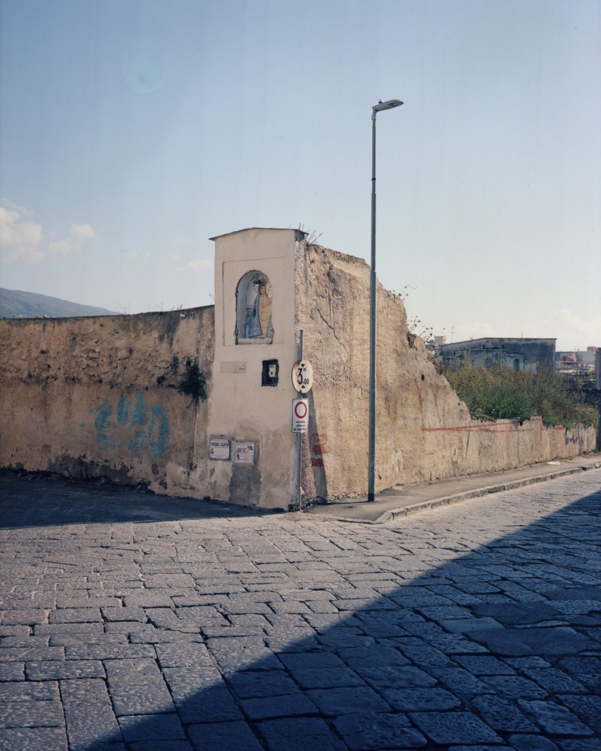Sacred shrine, intersection. Paesi Vesuviani, Province of Naples. 2020