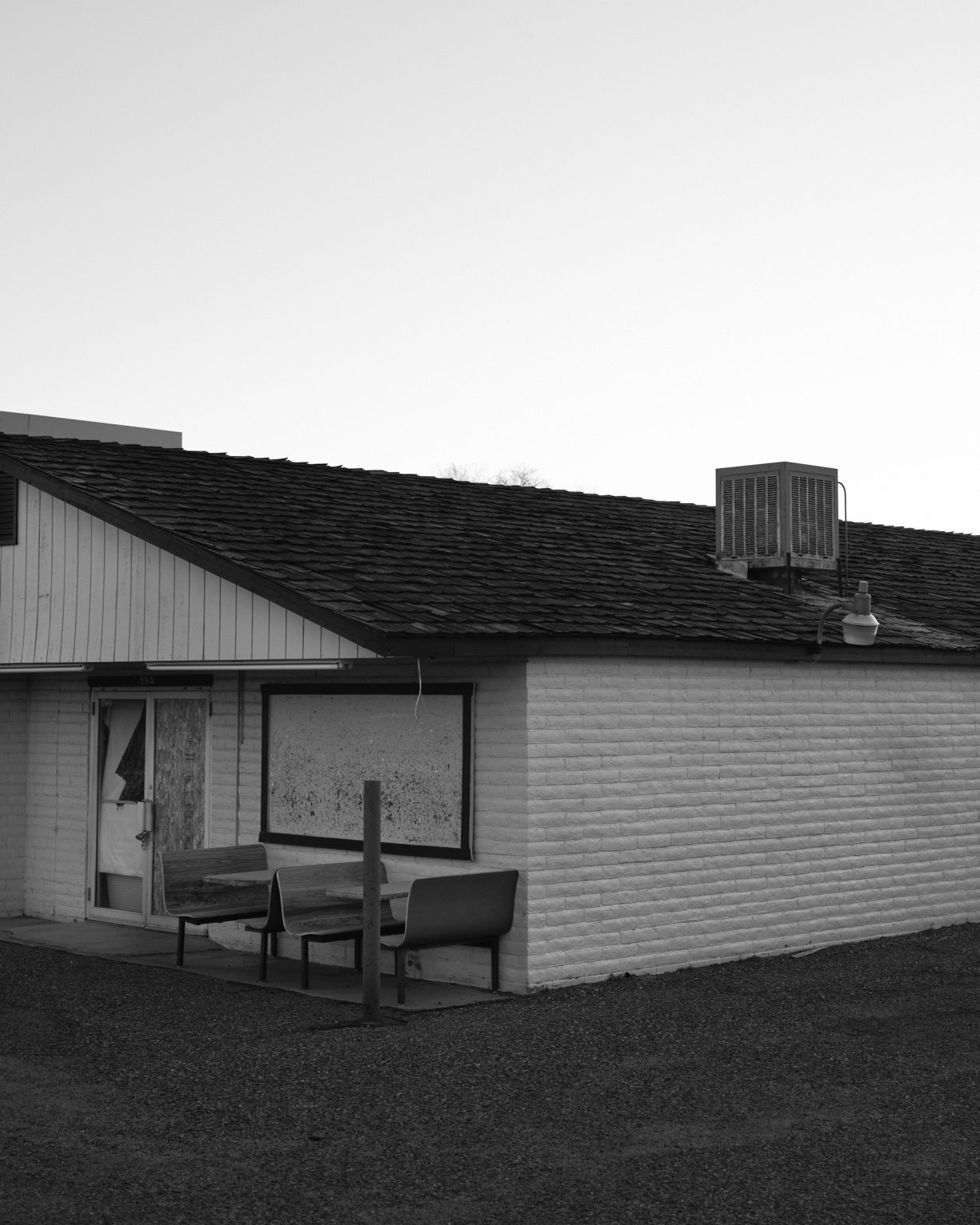 Closed diner near North Rim of the Grand Canyon. Utah 2020