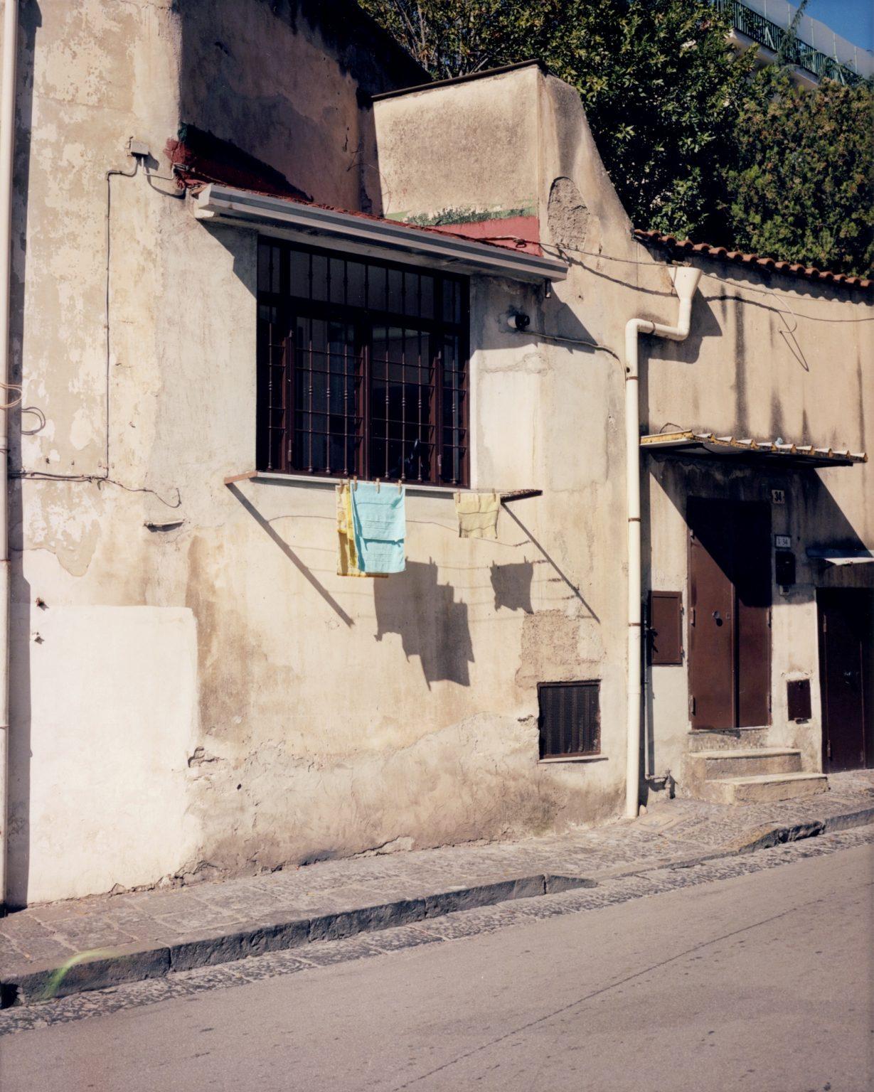 Rags hanging in the sun. Paesi Vesuviani, Province of Naples. 2020