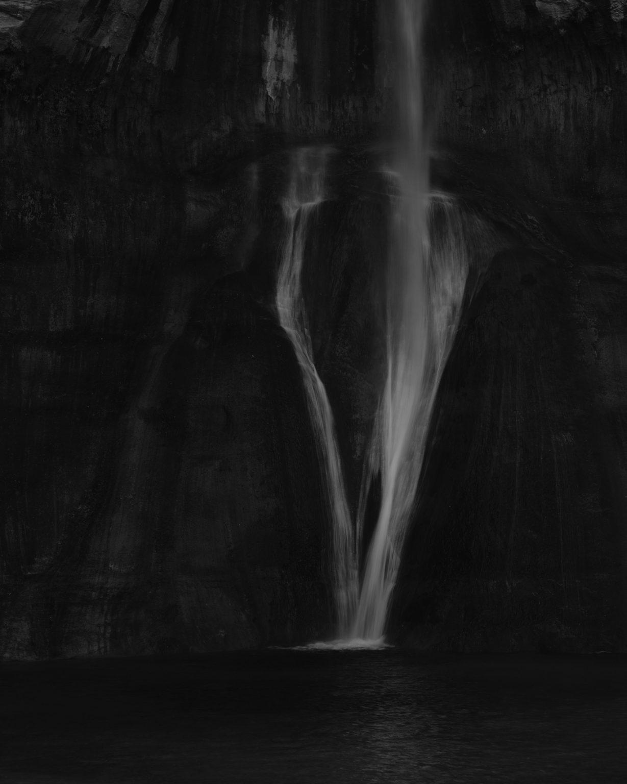 Waterfall at end of canyon. Utah 2020