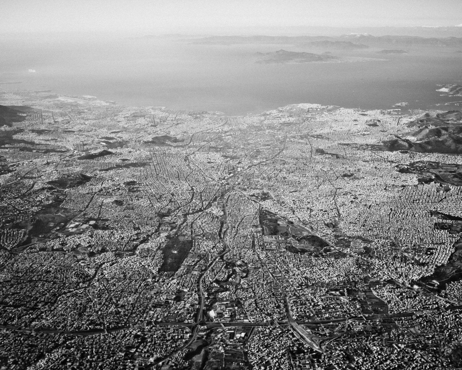 The sprawling Greek capital is home to nearly half of the country's crisis-stricken population. Athens, Greece, 2011