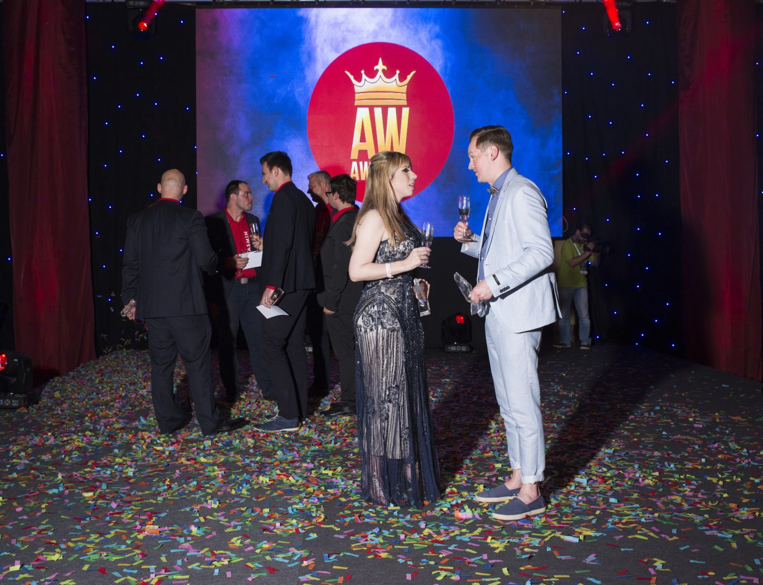 A moment of the prizegiving night of the AW Awards during the Aw Summit, globally the largest event for the erotic chat industry's players.  Mamaia, Constanța, Romania, 2016