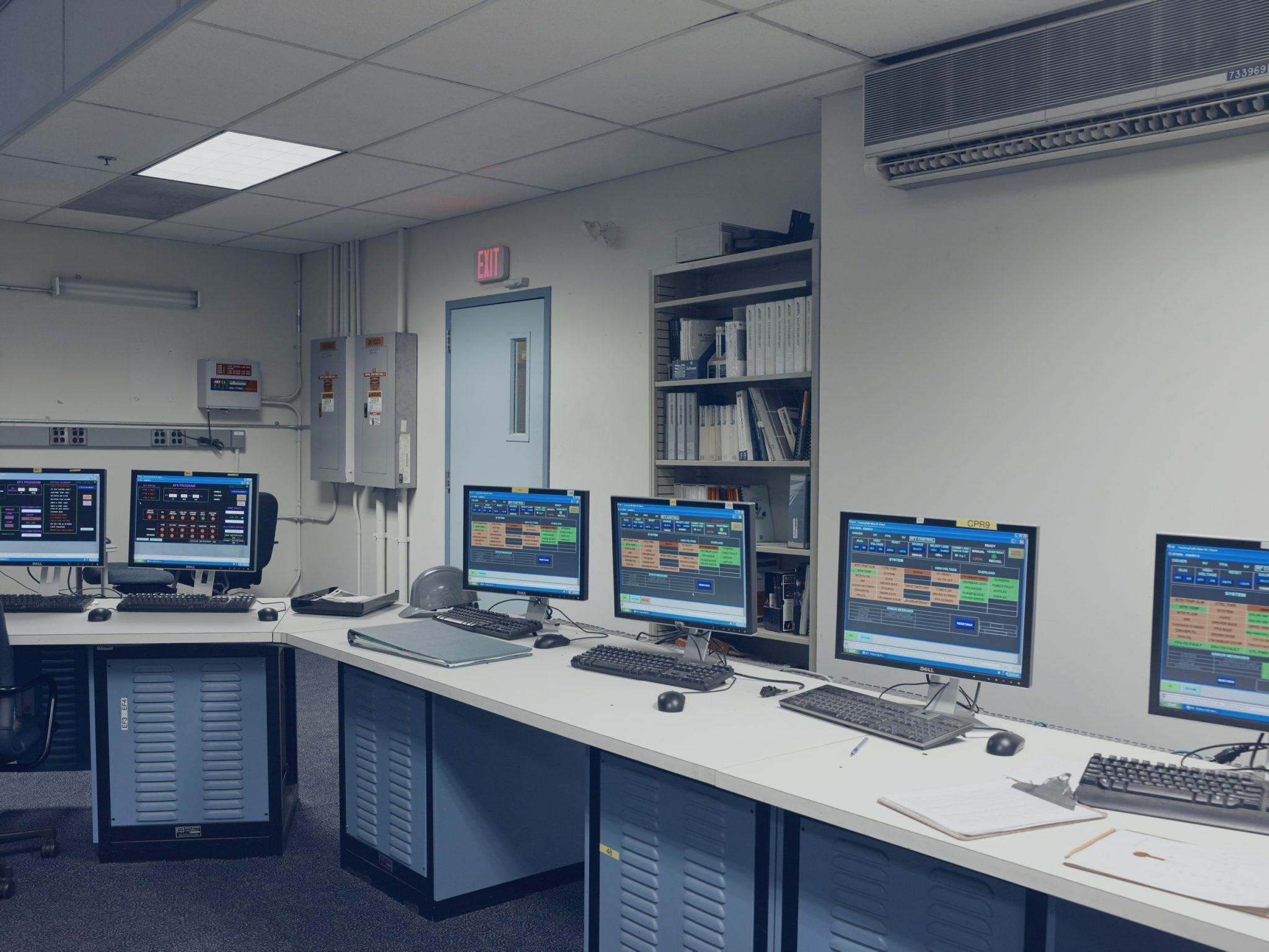 Department of Nuclear Science and Engineering. Control room of the particle accelerator for the C-Mod experiment. Massachusetts Institute of Technology, Cambridge, USA, 2017