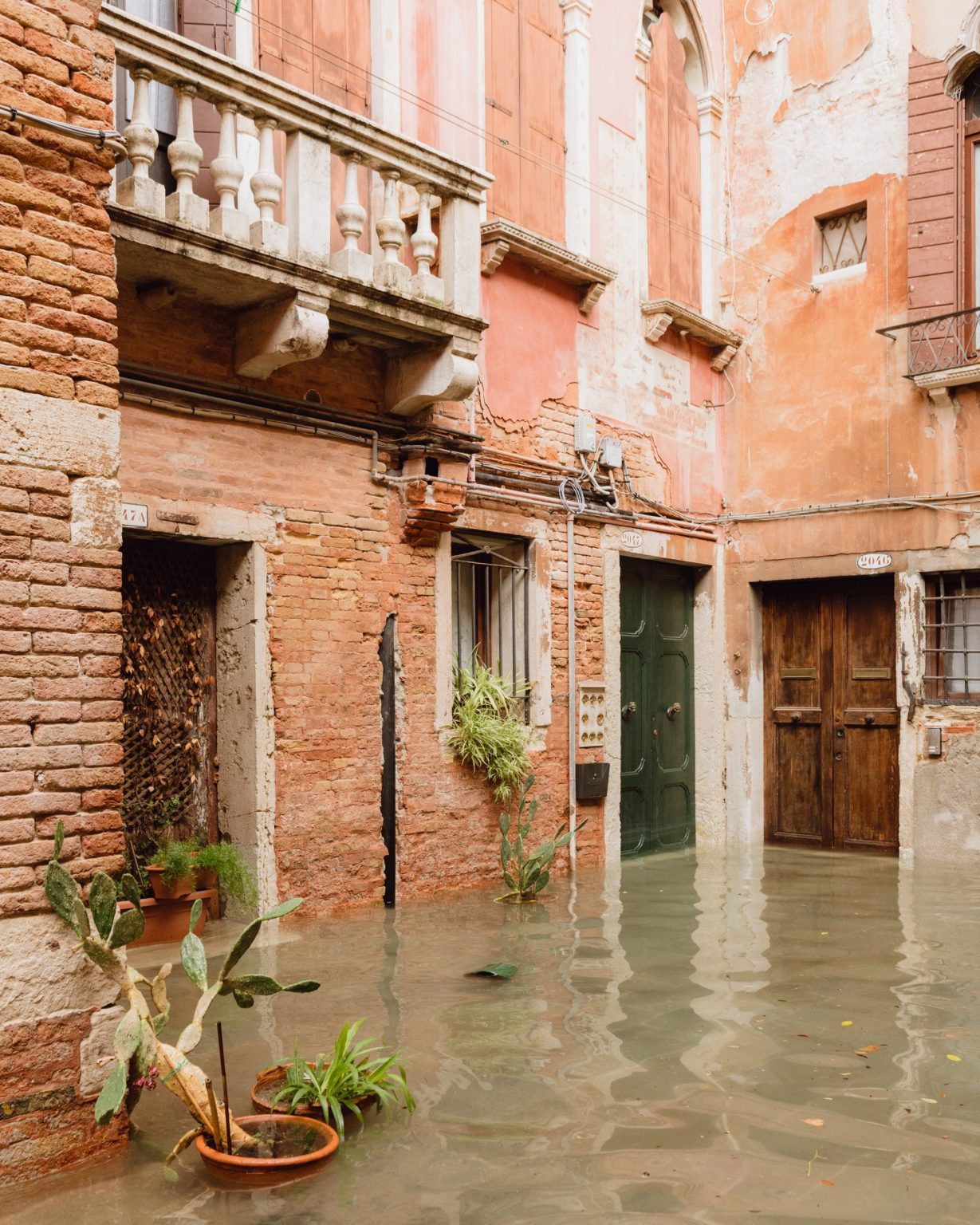 Exceptional acqua alta, or high water, in Venice, where the tide went up to 187cm, the highest level since the 1966 flood. Brugnaro, the mayor declared a state of disaster. Venice, Italy, 2019