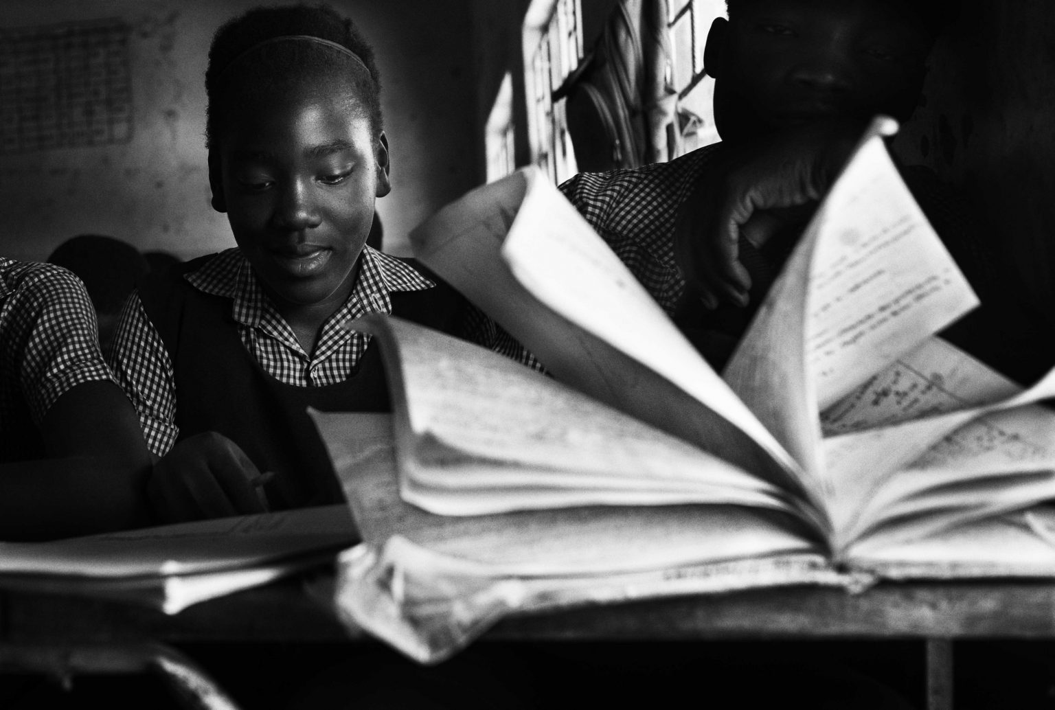 On ordinary day of lessons at Tubalange school Lusaka, Zambia, 2019