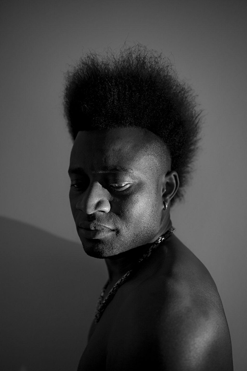 Portrait of an asylum seeker born in 1995 in Guinea Bissau. Reggio Emilia, Italy, 2019