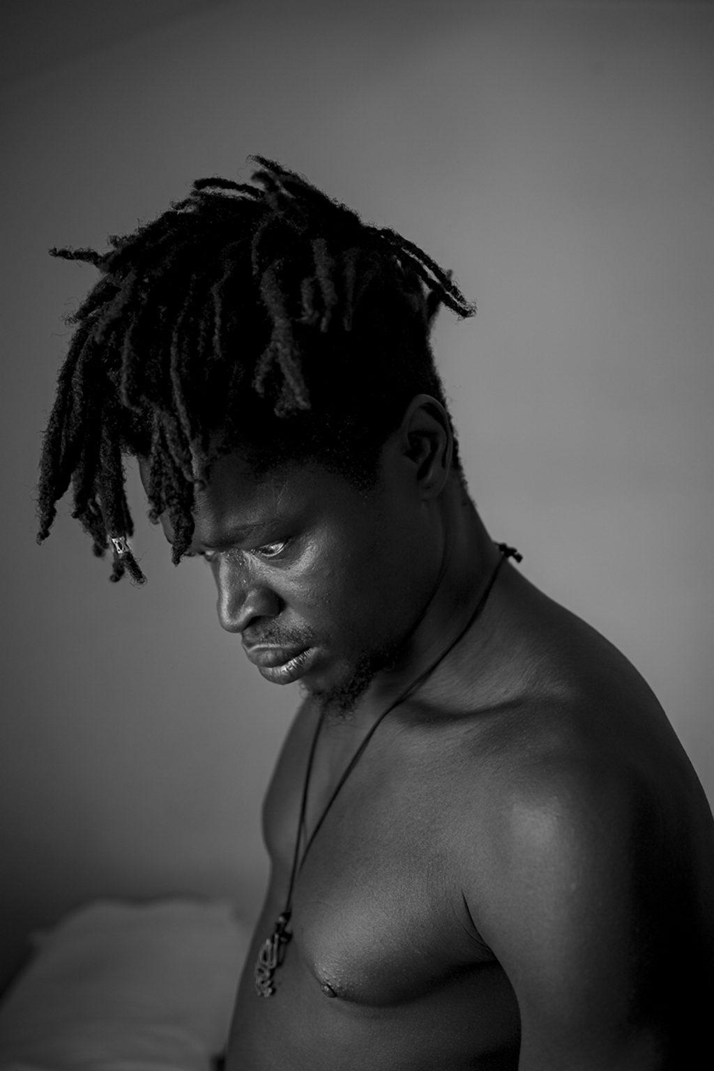 Portrait of Yankuba Zinteh, born in 1992 in Gambia. Reggio Emilia, Italy, 2019