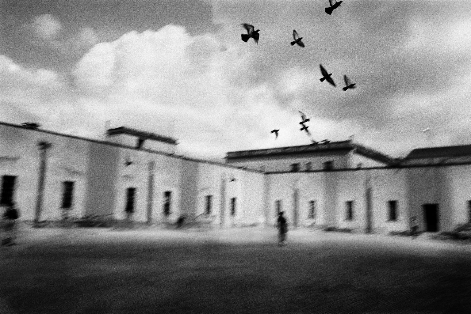 Free time in the courtyard of ward nine. Judicial Psychiatric Hospital. Aversa, Caserta, Italy, 2006