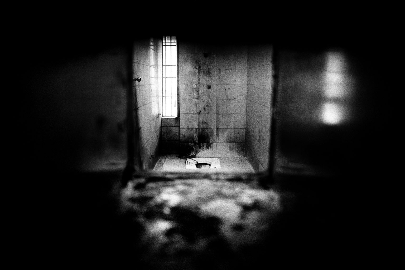 Bathroom inside a six-bed dormitory. Judicial Psychiatric Hospital. Aversa, Caserta, Italy, 2006