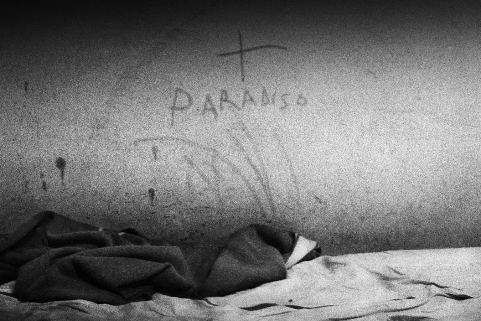 Writing on the walls of a cell. Judicial Psychiatric Hospital. Aversa, Caserta, Italy, 2007