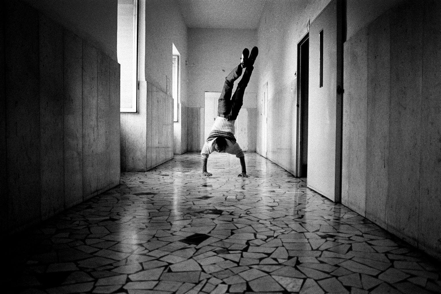 An inmate in the corridor of ward nine. Judicial Psychiatric Hospital. Aversa, Caserta, Italy, 2007