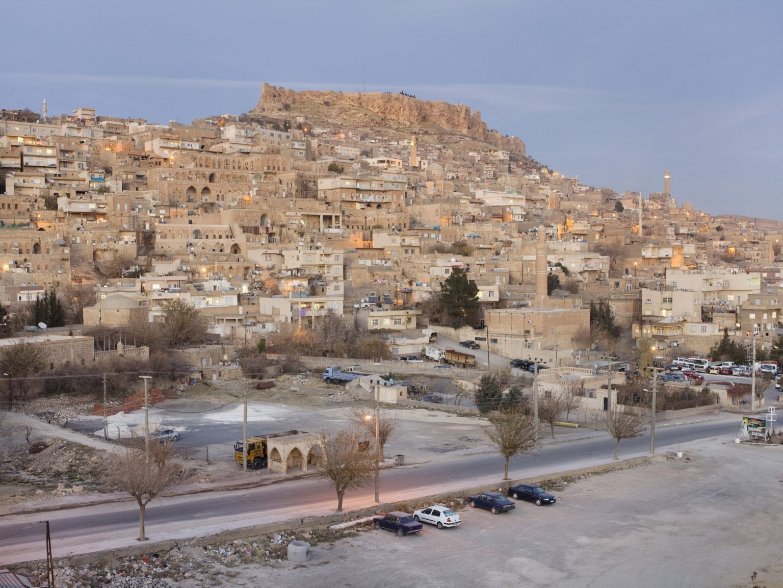 View of Mardin, an old city overlooking the plains of Mesopotamia close to the Syrian border. There are some 600 Christians living in Mardin and 11 churches.