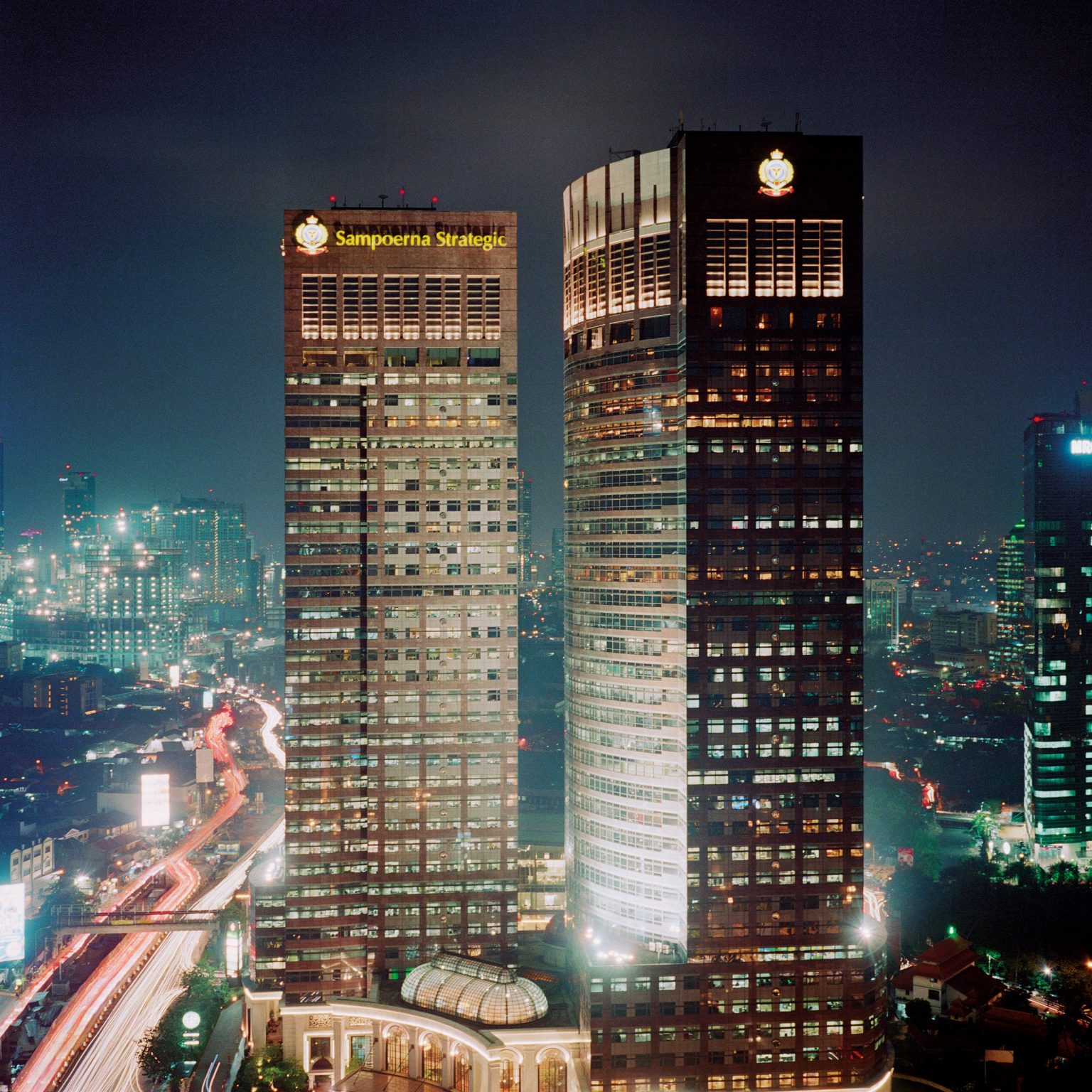 Jakarta, Indonesia. The Sampoerna Strategic Square, built by billionaire Putera Sampoerna, owner of the largest tobacco company of Indonesia, and housing several business offices, among which the Sampoerna Foundation, the only element of the company retained by the family after the sale of the company to Philip Morris International in 2005.