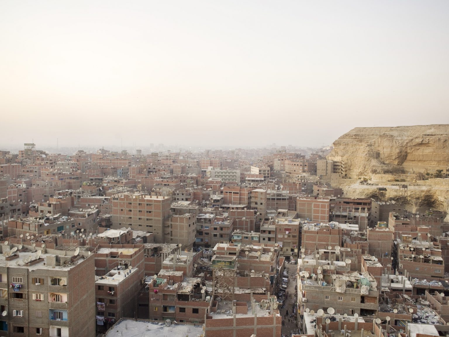 View of Garbage City where the Zabbaleen Christian population collect and recycle all the garbage of Cairo.