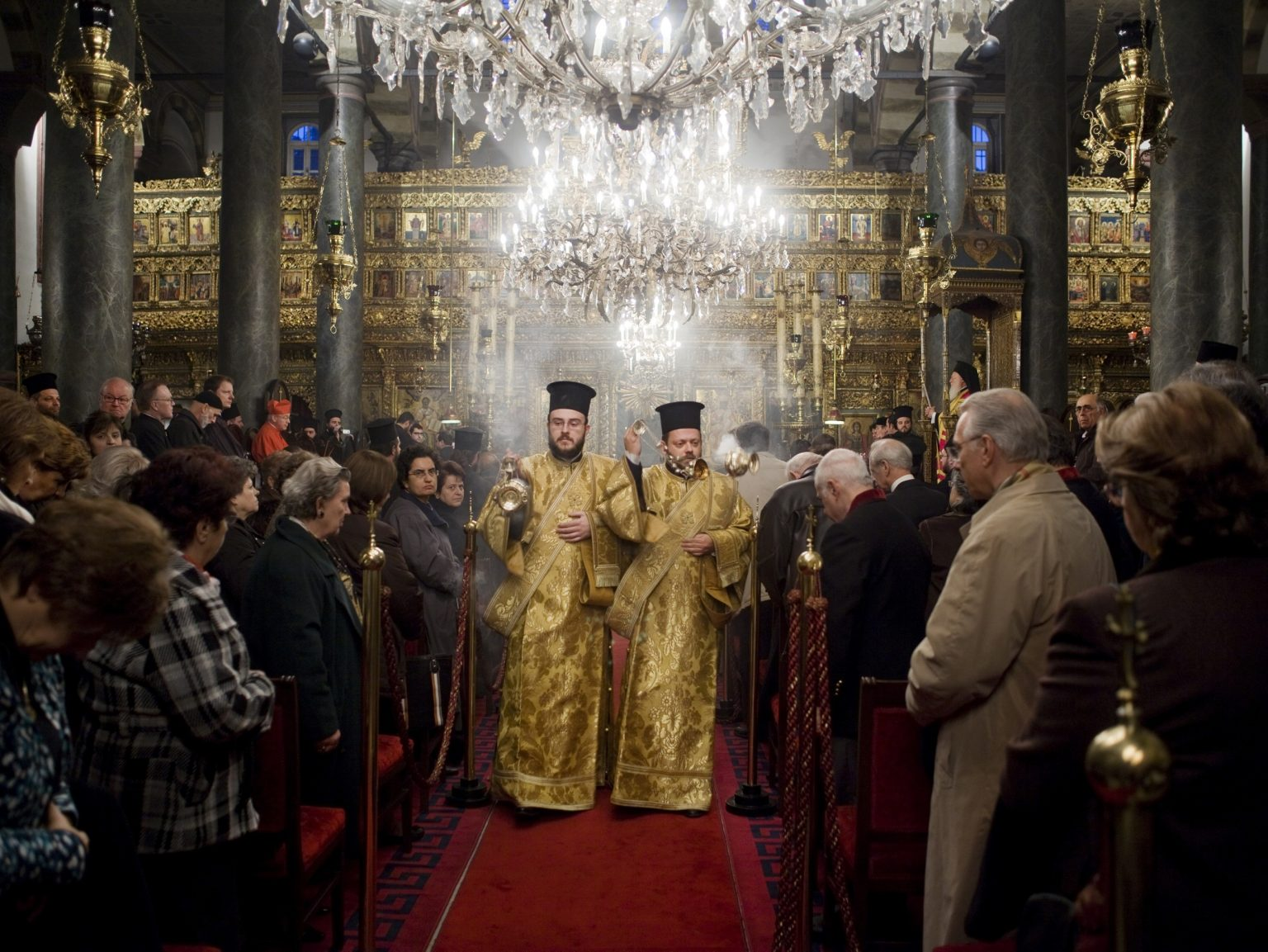 Mass in St. George's church in Istanbul, the religious seat of the Ecumenical Patriarchate of Constantinople.