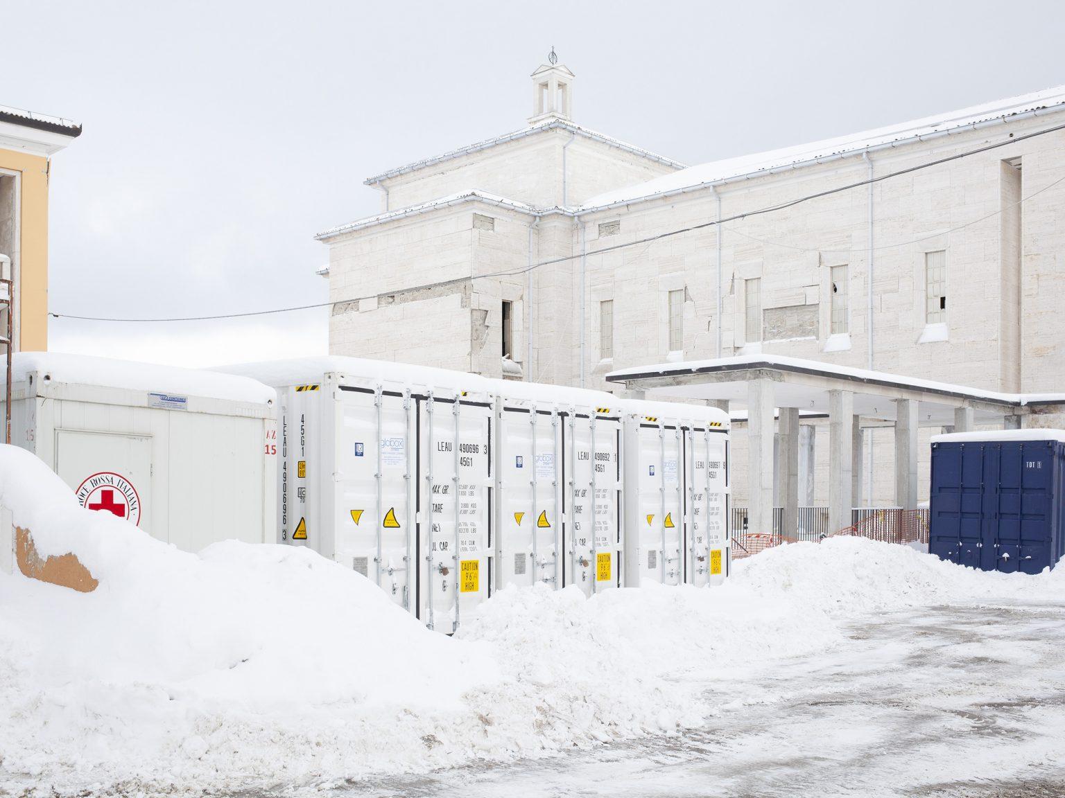 Amatrice, gennaio 2017 La chiesa di Santa Maria Assunta, nel complesso dell'Opera Don Minozzi.