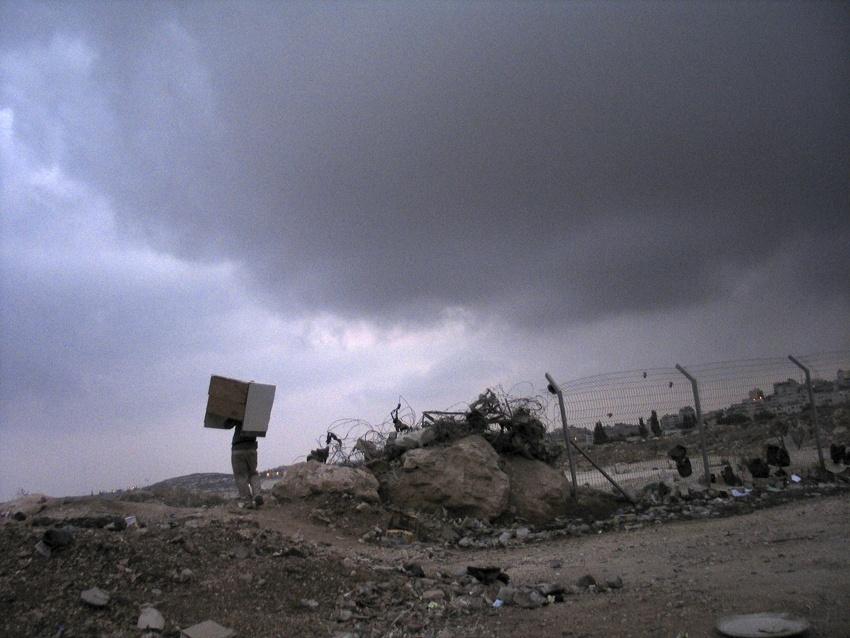 West Bank, Calandia 2003.Calandia check point.