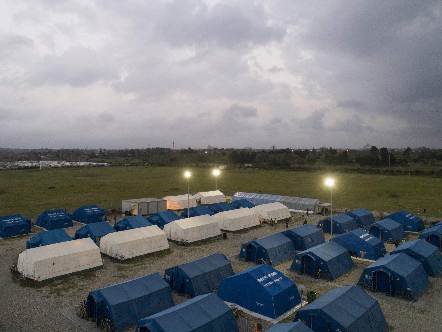 San Ferdinando, Italy. 4 April 2018. The camp built by the Ministry of Internal Affairs to host 500 laborers.