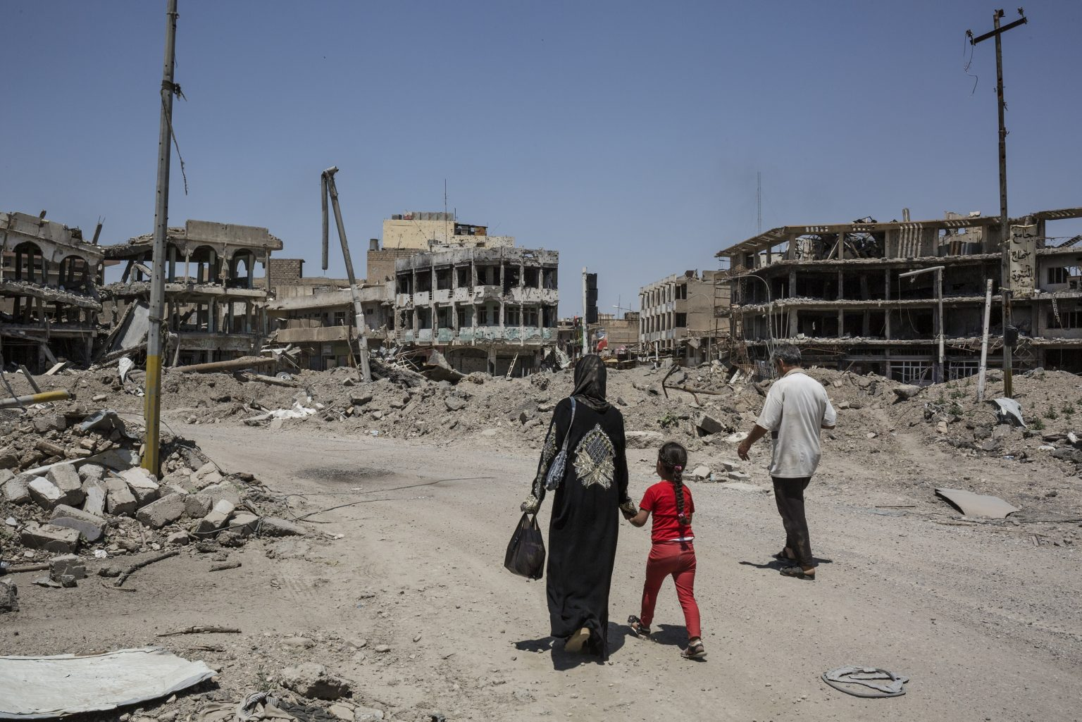 Mosul, Iraq - May 8th 2017 - View of the empty and destroyed  city of Mosul west after the battle between the Iraqi army and ISIS.  Ph.Giulio Piscitelli