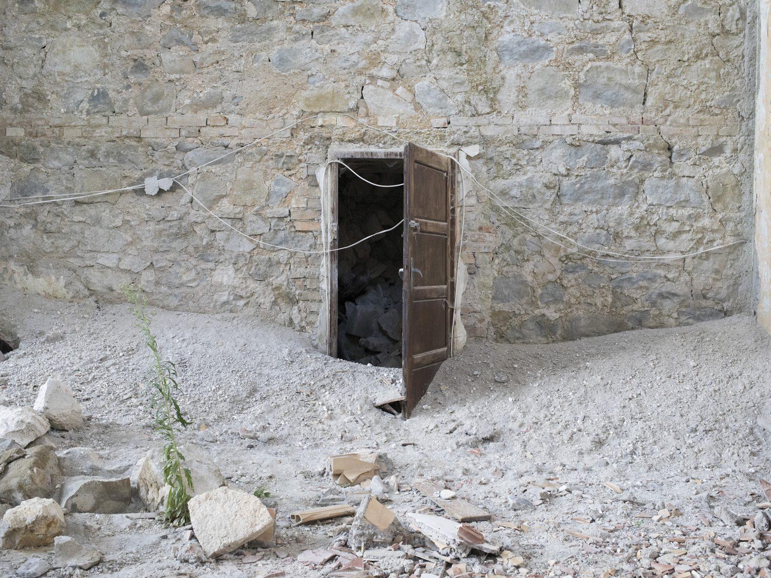 Pretare, Arquata del Tronto, settembre 2019 I resti della Chiesa della Madonna della Pace.