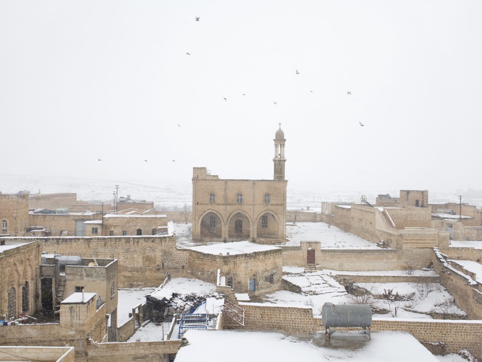 View of a church in Midyat. There are currently four churches here.