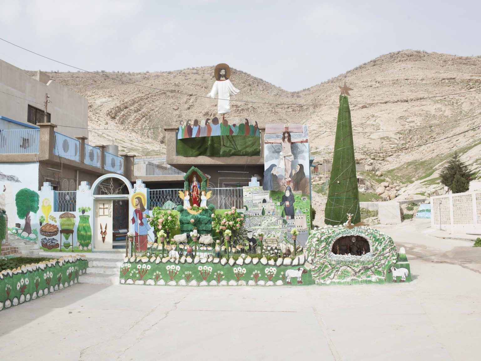 Decorations on a house of Alqosh, Christian town in the Nineveh Plain, in Iraqi Kurdistan.