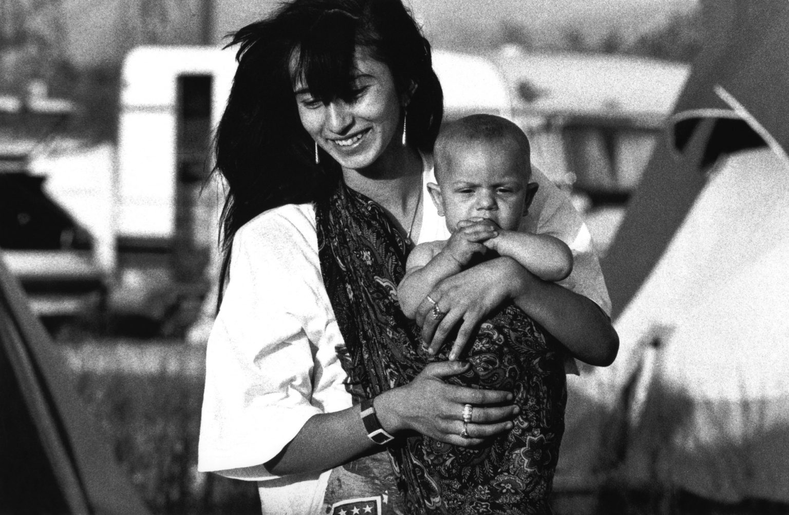 """Florence , 1993 - Gypsy mother holding her son >< Firenze , 1993 - Giovane zingara con il figlio neonato<p><span style=""""color: #ff0000""""><strong>*** SPECIAL   FEE   APPLIES ***</strong></span></p>"""
