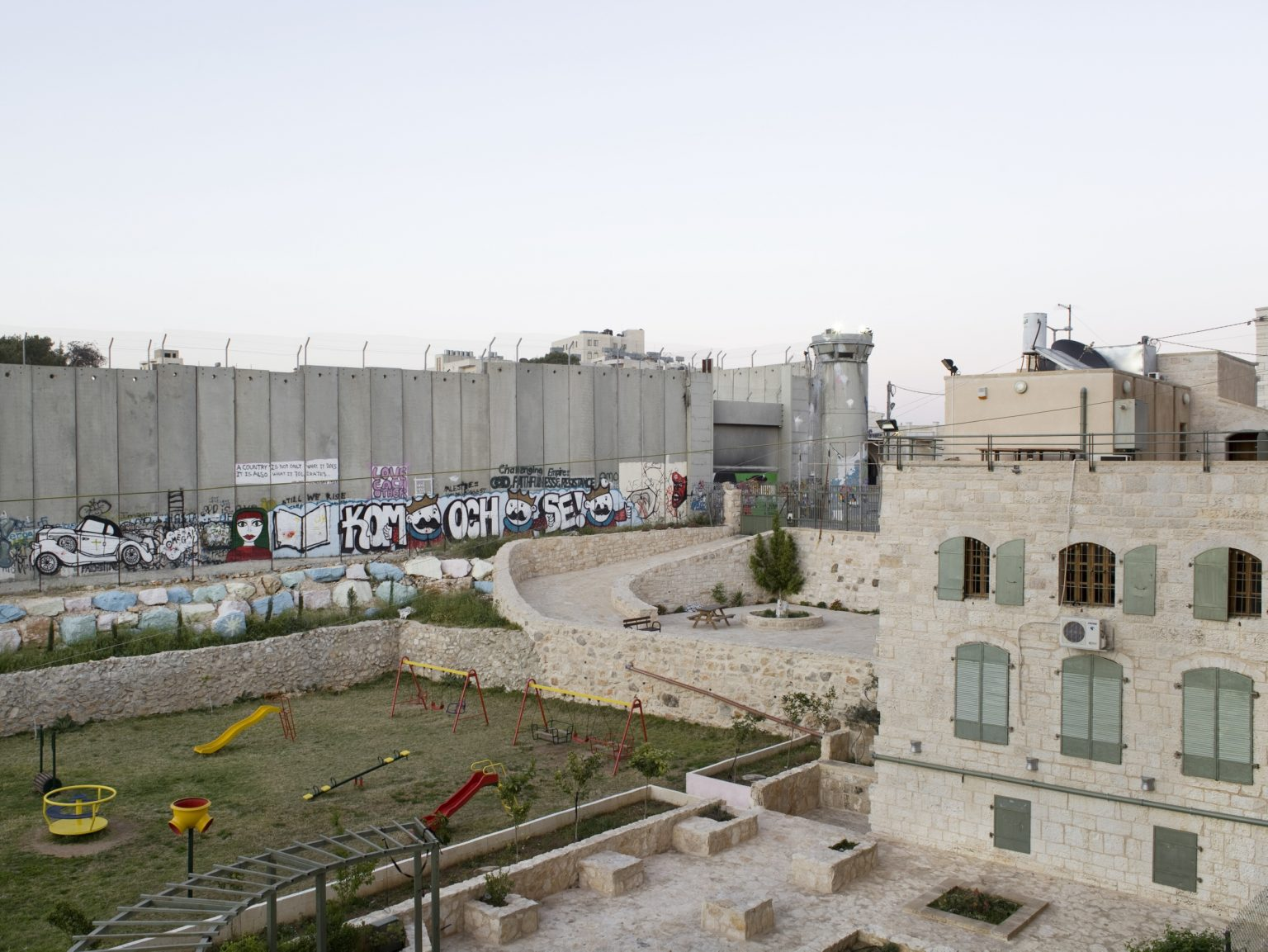 View of the separation wall in Bethlehem.