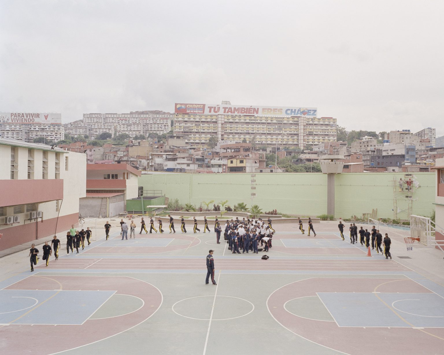The experimental school of police, born with the gouvernment of Chavez. The school is based on the idea that violence is the last recourse, the student are prepared also in sociology and psicology.