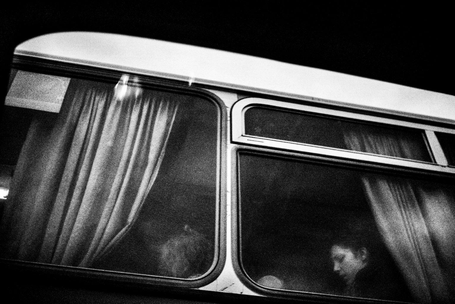 Berlin , 2010- Berlin Diary is a research that documents the margins of society; an investigation into different worlds including relationships; the loneliness of the human being; alcoholism and abuse; lovers and their conflicts and finally the relationship between people and city. A bus in Neukolln. >< Berlino ,2010- Berlin Diary è una ricerca che documenta i margini della società; un'indagine in mondi diversi tra cui si esplorano relazioni; la solitudine dell'essere umano; L'alcolismo e gli abusi; gli amanti e i loro conflitti e infine; il rapporto tra persone e città.Un bus a Neukolln.