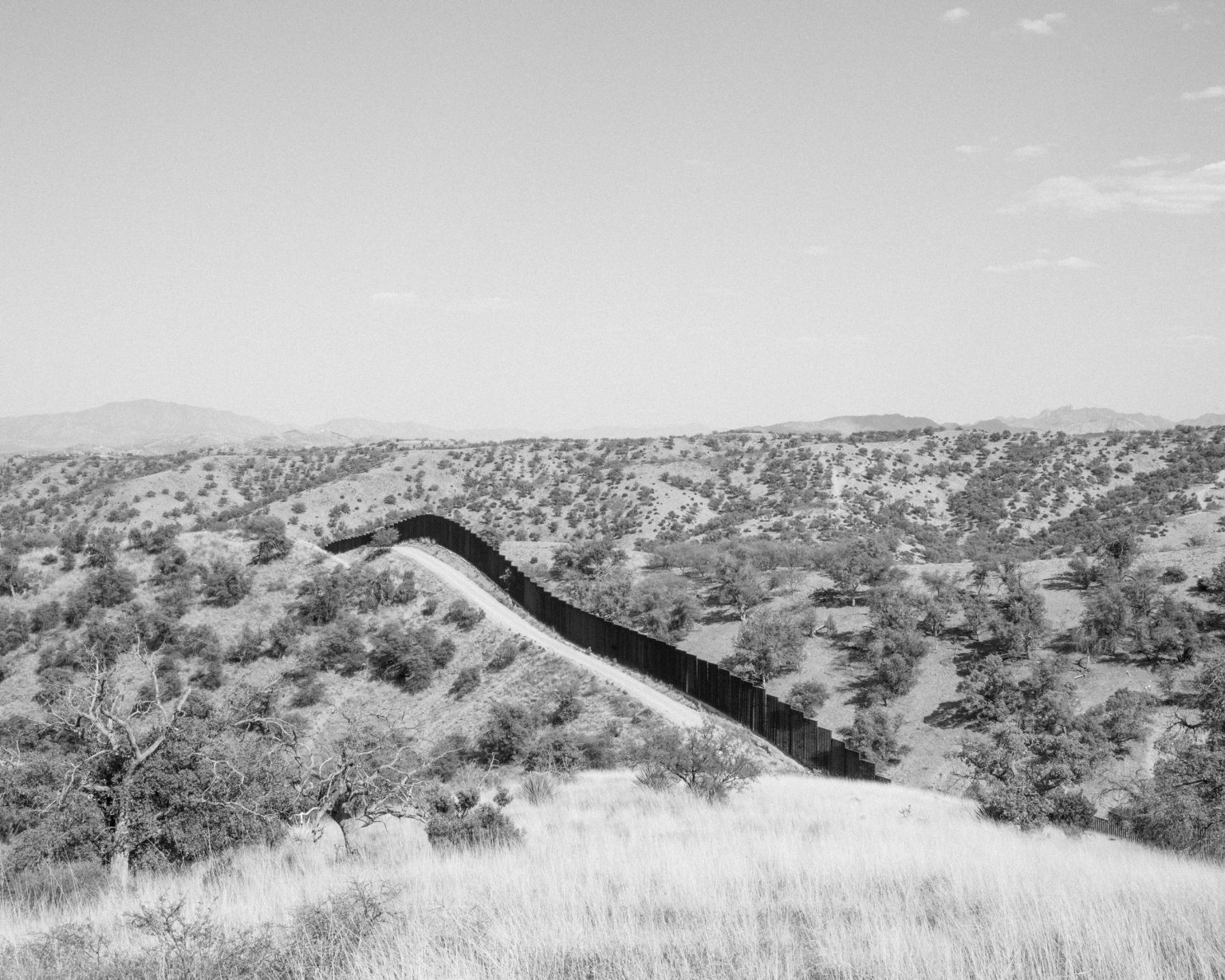 The wall dividing the US and Mexico near Nogales.  Arizona.  May, 2017.