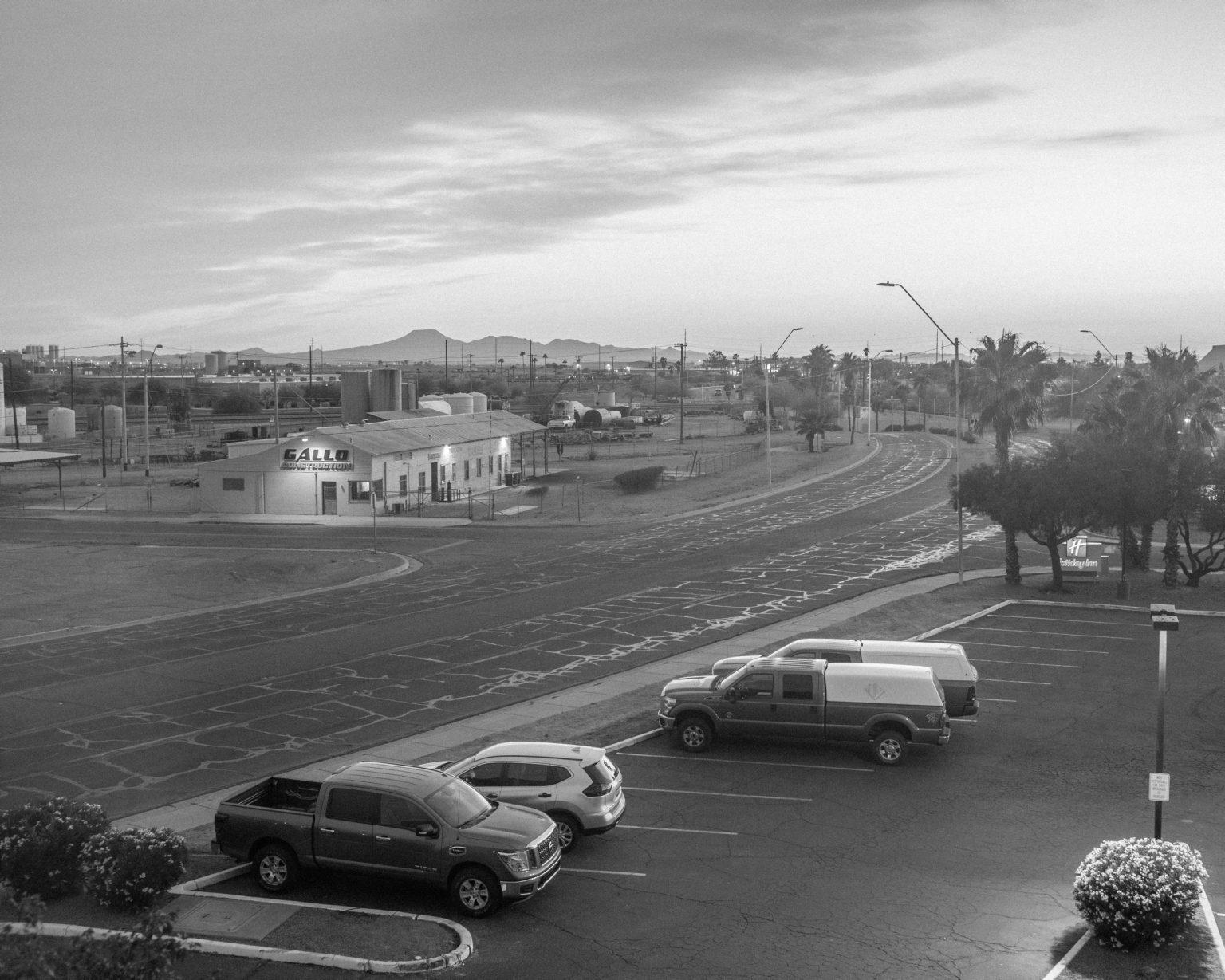 Holiday Inn view on Gallo's Construction.  Casa Grande, Arizona, April 2017.