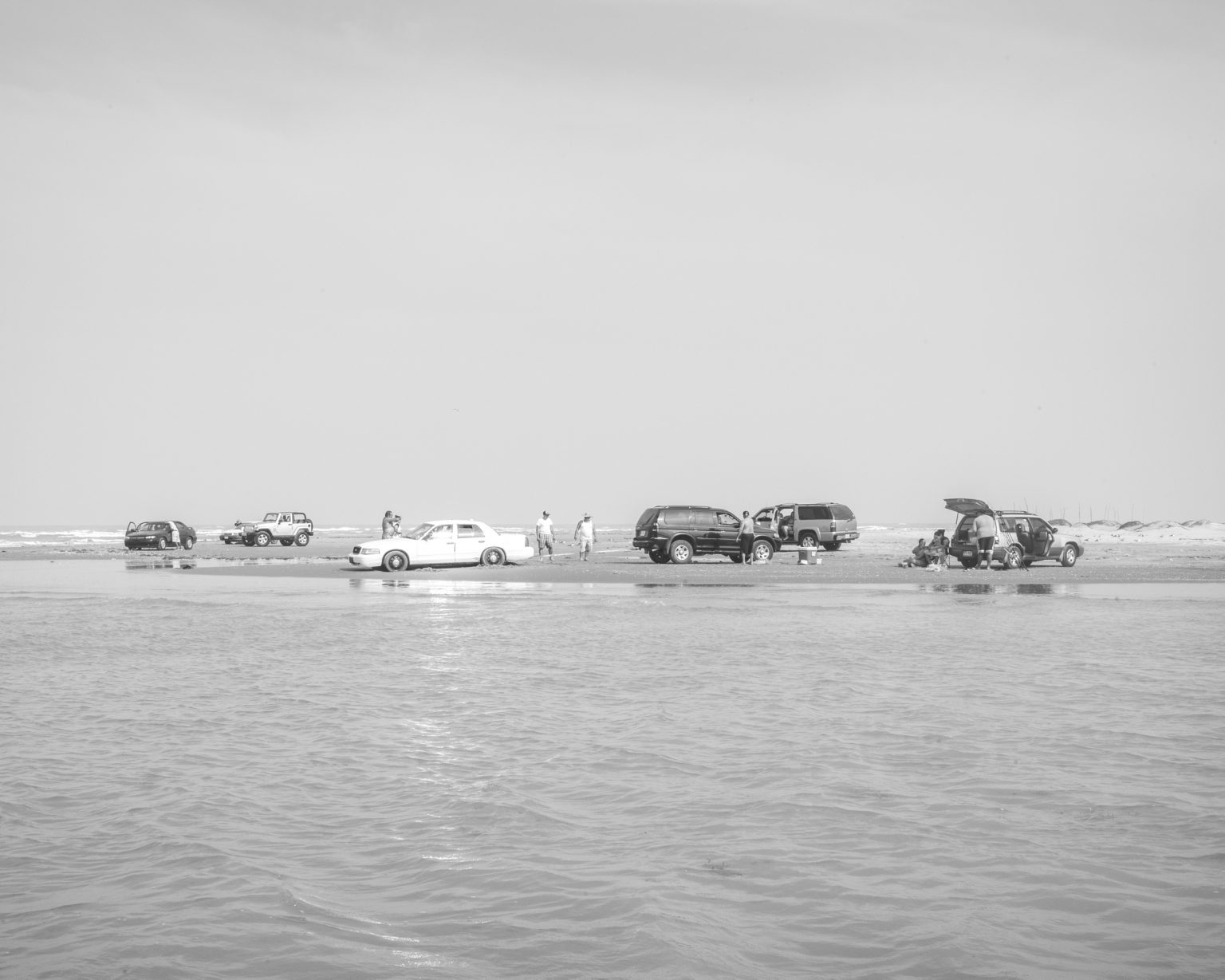 Families along the Rio Grande's delta where Mexican families go to meet their relatives on the US  bank of the river.  Playa Baghdad. Brownsville, TX. April 2017.