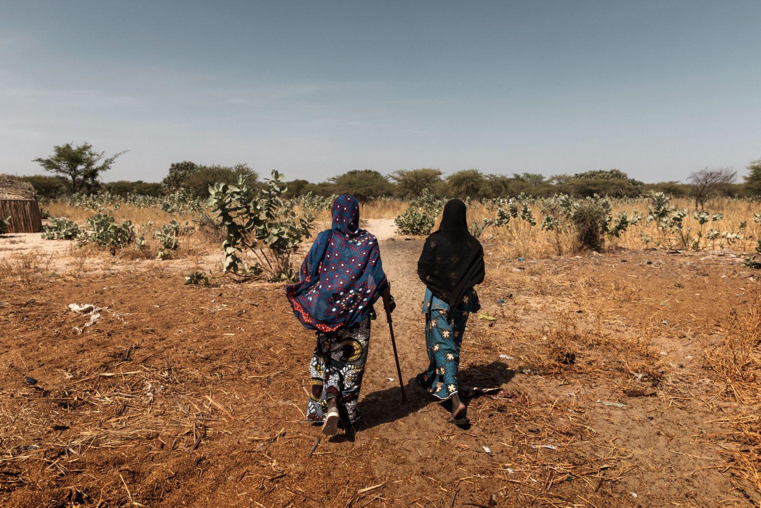 Africa, Chad, Gomirom Domouli, October 2018 - Halima Adama, a former member of Boko Haram terrorist group. Halima is a kamikaze who survived a suicide attack she carried out herself. This young woman, now aged 20, was forced into carrying out this suicide mission at the age of just 18. She did not die in the explosion, but she lost both of her legs, and has now returned to live with her family in the village of Gomirom Domouli. >< Africa, Ciad, Gomirom Domouli, Ottobre 2018 - Halima Adama, una ex membra del gruppo terroristico Boko Haram. Halima è una kamikaze che è sopravvissuta all?attacco suicida compiuto da lei stessa. Questa giovane donna, che ora ha 20 anni, è stata costretta a compiere questa missione suicida all?età di 18 anni. Non è morta nell?esplosione ma ha perso entrambe le gambe ed è tornata ora a vivere con la sua famiglia nel villaggio di Gomirom Domouli. *** SPECIAL   FEE   APPLIES *** *** Local Caption *** 01362925