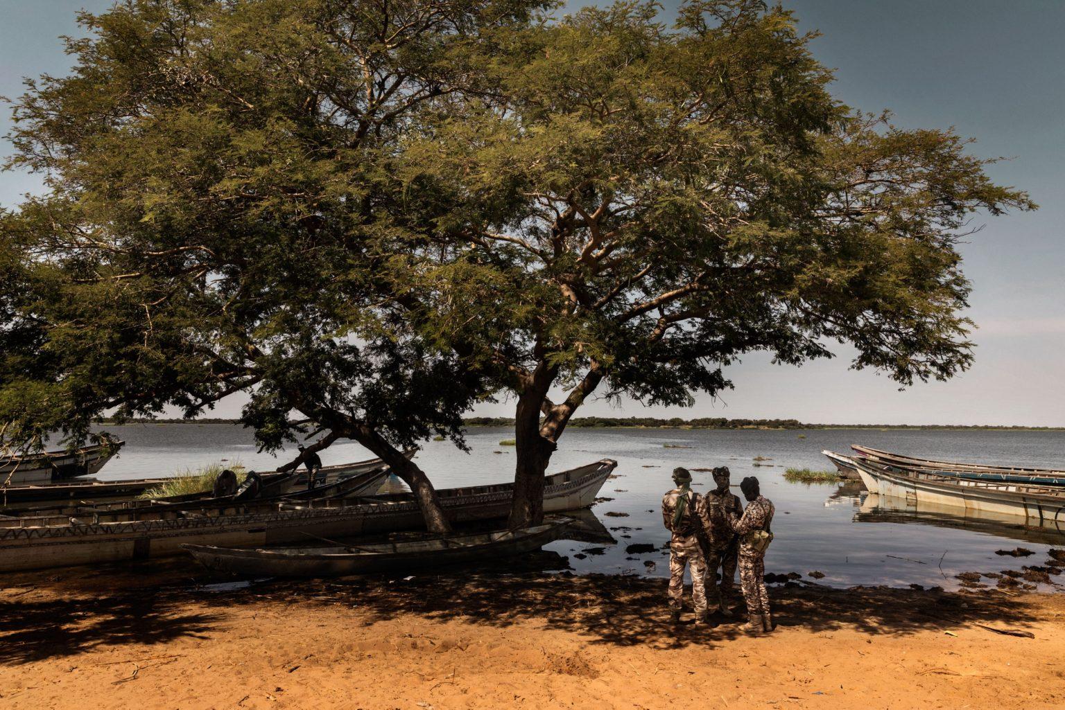 Africa, Chad, Bol, October 2018 - The Chadian army is involved in a number of anti-terrorism missions throughout the Sahel. The ANT is a very active presence in the Lake Chad basin and the islands, where Boko Haram?s men are hiding. >< Africa, Ciad, Bol, Ottobre 2018 - L'armata del Ciad è coinvolta in diverse missioni anti-terrorismo nel Sahel. L'ANT è una presenza attiva nel bacino del Lago Ciad e nelle isole, dove si nascondono gli uomini di Boko Haram. *** SPECIAL   FEE   APPLIES *** *** Local Caption *** 01362912