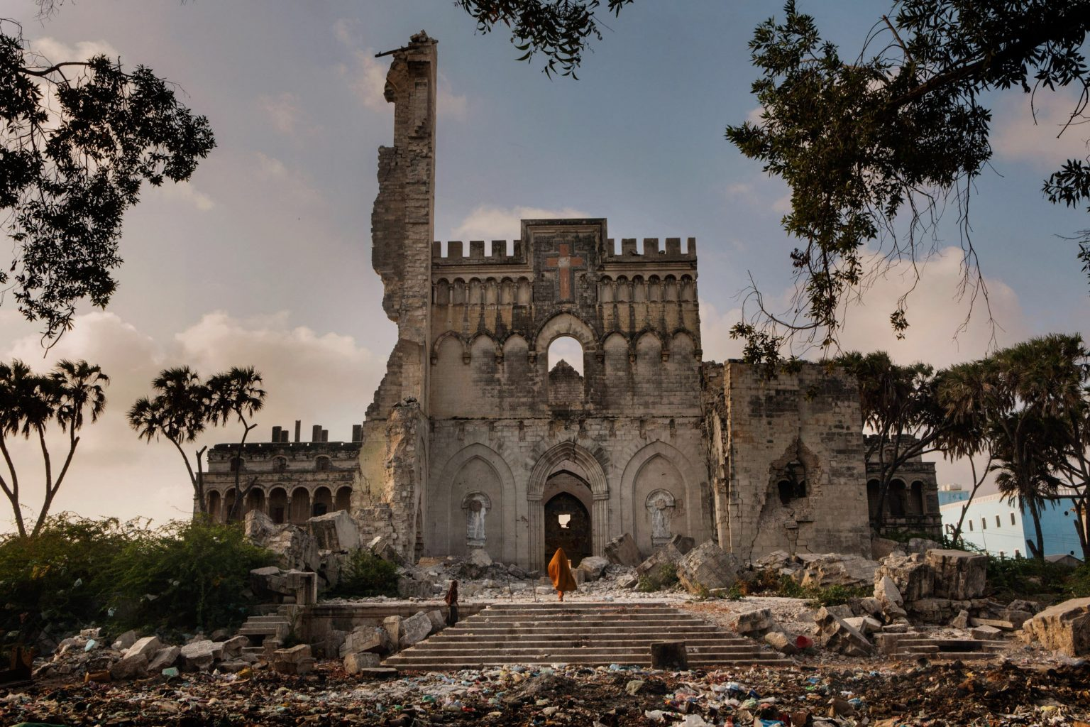 Africa, Somalia, Benadir region, Mogadishu. 26/03/2012. The Catholic cathedral, located between Hamarweyne and Shangani districts, the old town of the Somali capital. In fact, Hamarweyne literally means the big city or old town