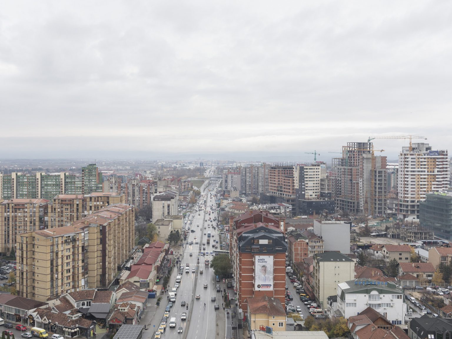 A view of Prishtina/Priština from the new St. Mother Theresa Cathedral, consecrated on September 5th, on the 20th anniversary of the saint's death. There are around 65,000 Catholics in Kosovo, out of a population of approximately two million. Most Kosovars are ethnic Albanians, like Mother Teresa. Almost 95 per cent are Muslim. The Holy See does not currently recognise Kosovo as a sovereign state.