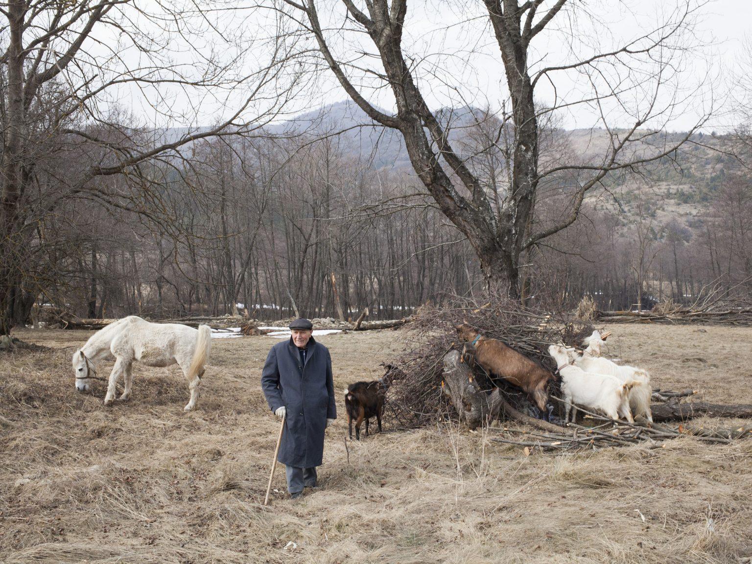 Milorad Boskocevic 89-year-old pastor in the Bosnian community in the municipality of Shtërpcë-Štrpce.