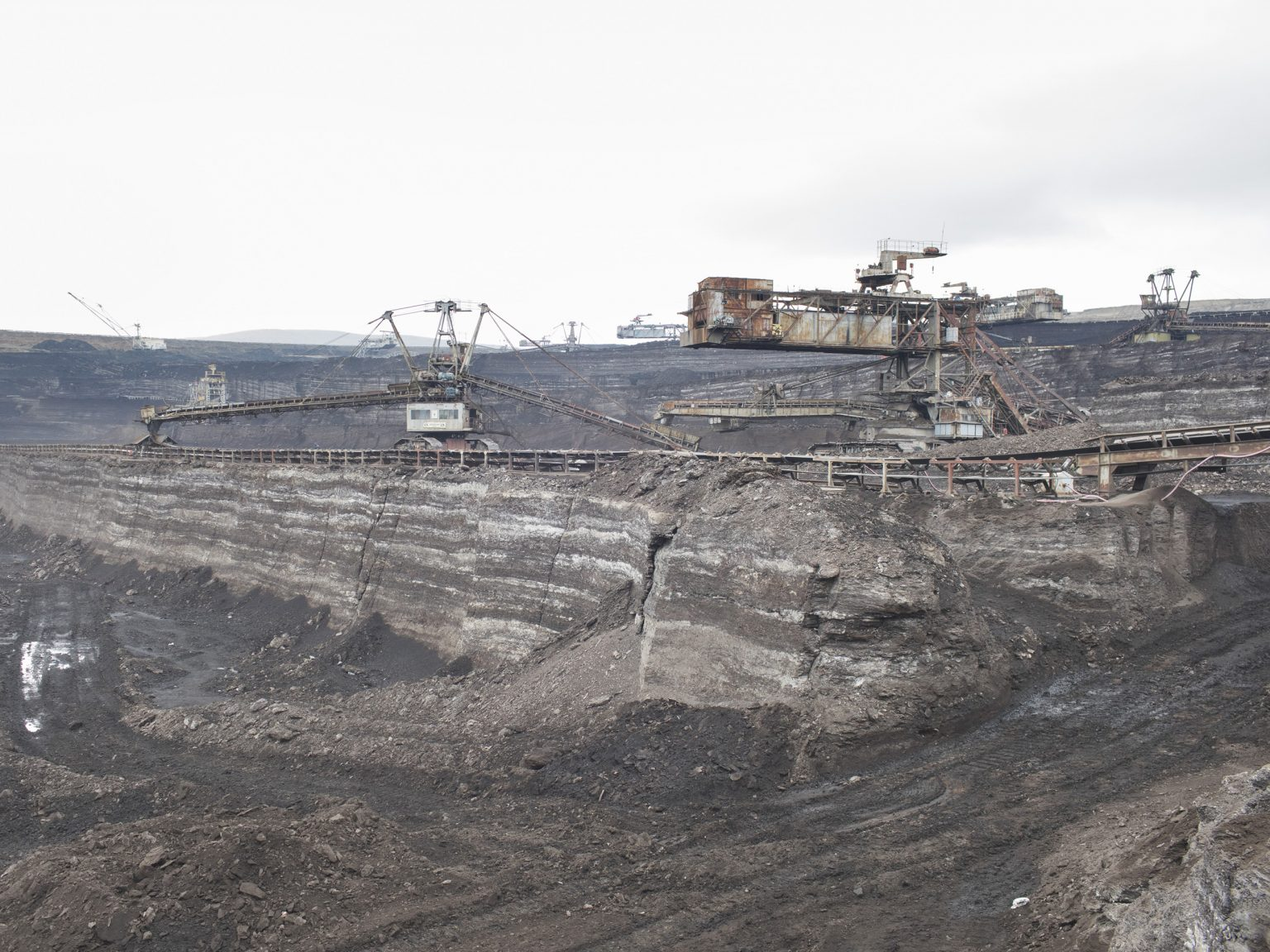 A view of the Sibovc coal mine located in Obiliq / Obilić, District of Prishtina / Priština. The mine, owned by KEK (Kosovo Energy Corporation) has coal reserves amounting to 1 billion tonnes of lignite, one of the largest lignite reserves in Europe.