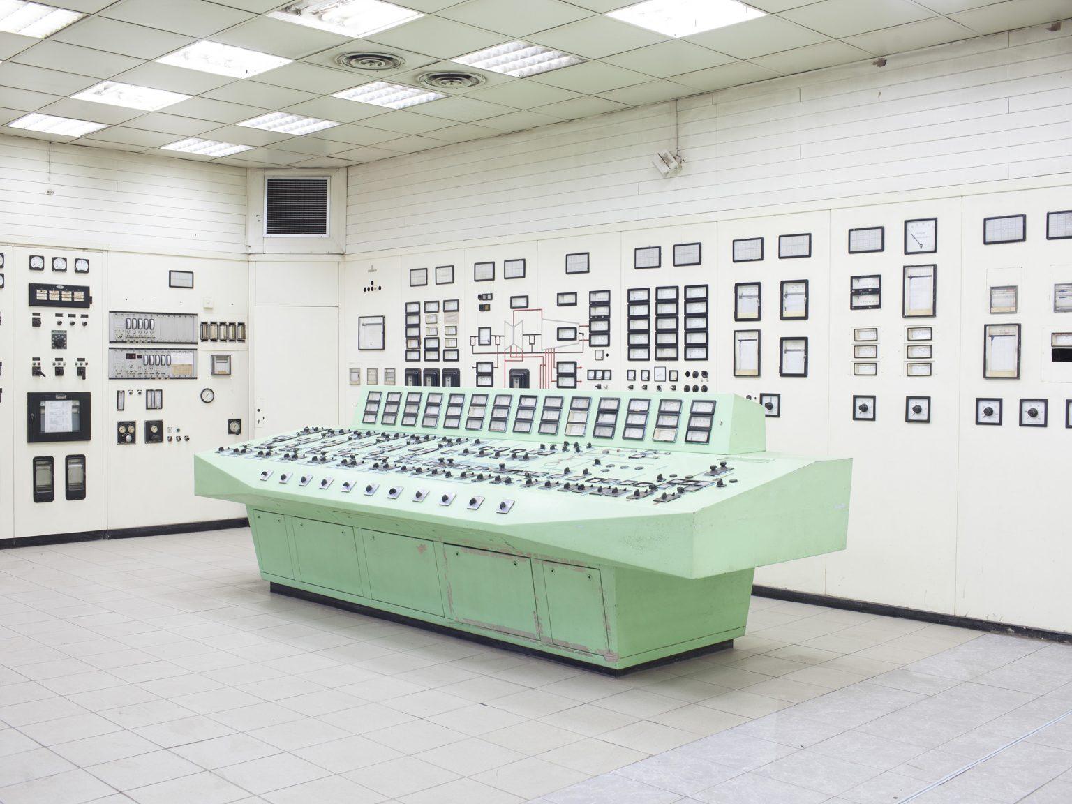 View of the elettric network command room in the Kosovo Energy Corporation (KEK) coal plant of Obiliq / Obilić.